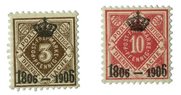 1906 German States-Wurttemburg