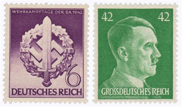 1942-44 Complete Germany Storm Trooper Emblem & Adolf Hitler