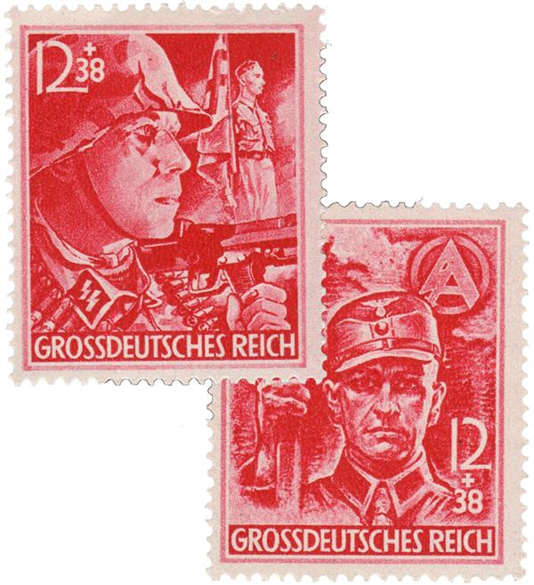 1945 Germany - Final Third Reich Issue - Nazi Semipostal Stamps (limit 1 per order)