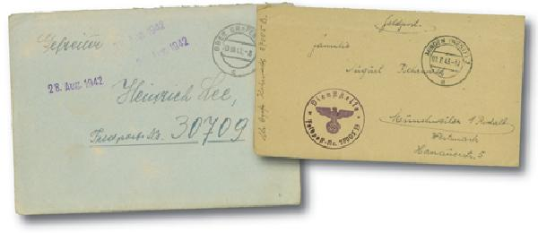 Nazi Field Post Stampless Covers (3)