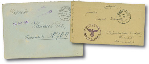 Nazi Field Post Stampless Covers (10)
