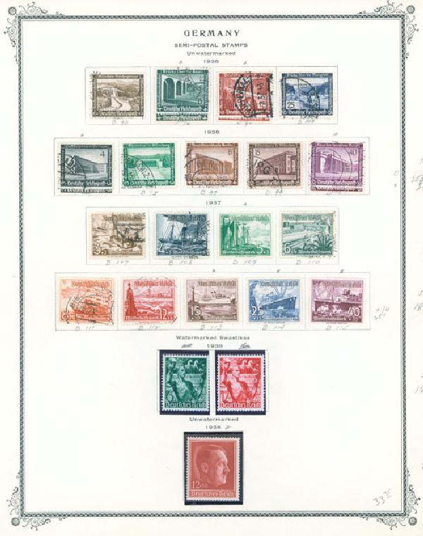 1936-83 Germany Semipostals