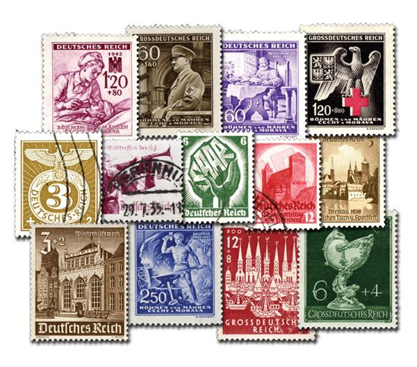 Third Reich Stamps, Used, Set of 145, Germany
