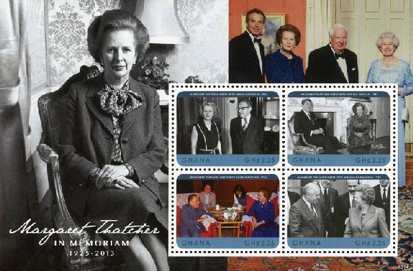 2013 Ghana Margaret Thatcher sheet of 4