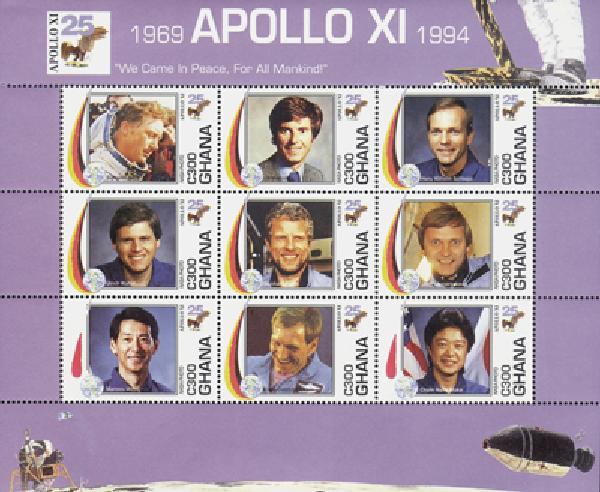1994 Ghana #1701 Apollo XI, 9v