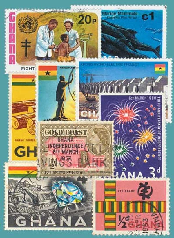 Ghana, 25 stamps