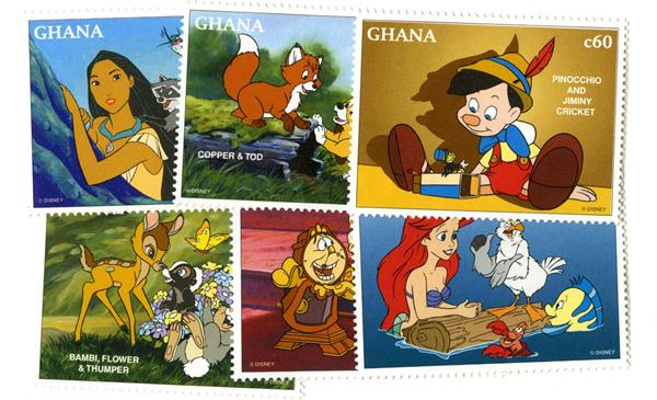 1996 Disneys Tribute to Best Friends, Mint, Set of 10 Stamps, Ghana