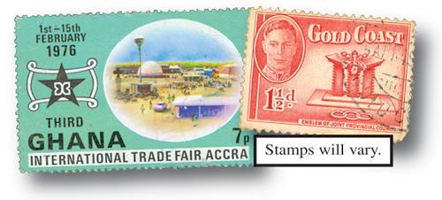 Ghana & Gold Coast, 25v