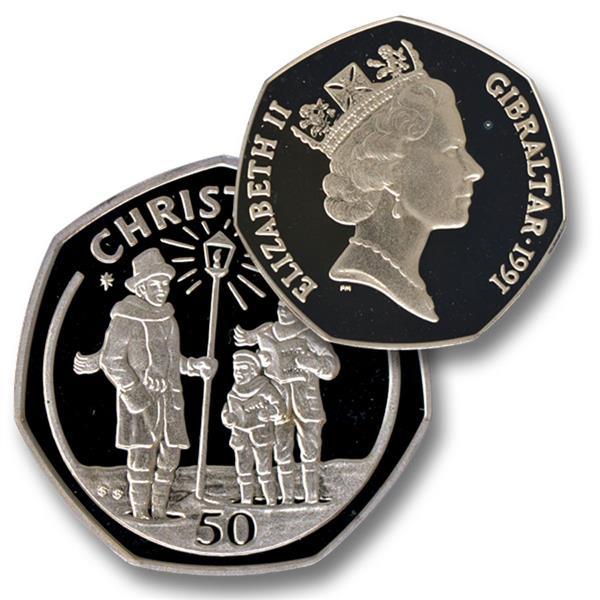 1991 Gibraltar Christmas Coin