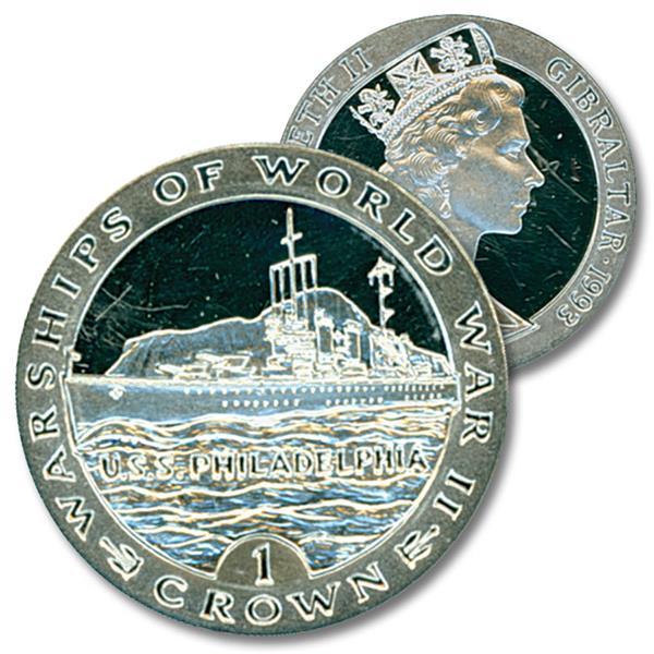 1993 VAS USS Philadelphia Silver Coin