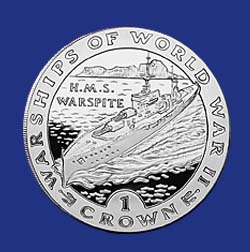 1993 VAS HMS Warspite Silver Coin