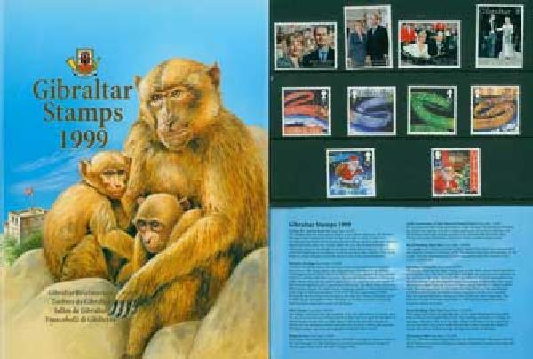 1999 Gibraltar Year Set,44vM