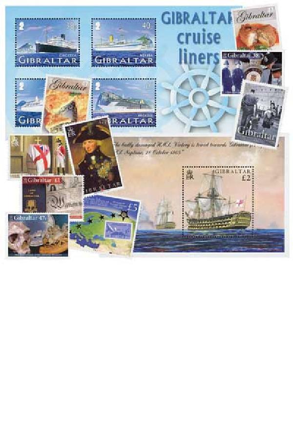 2005 Gibraltar Year Set- 42 Mint Stamps