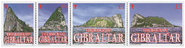 2002 Rock of Gibraltar #917 4v Mint