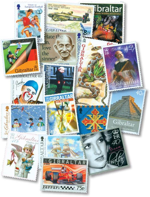 150 Mint Gibraltar Stamps - $355 Scott Value