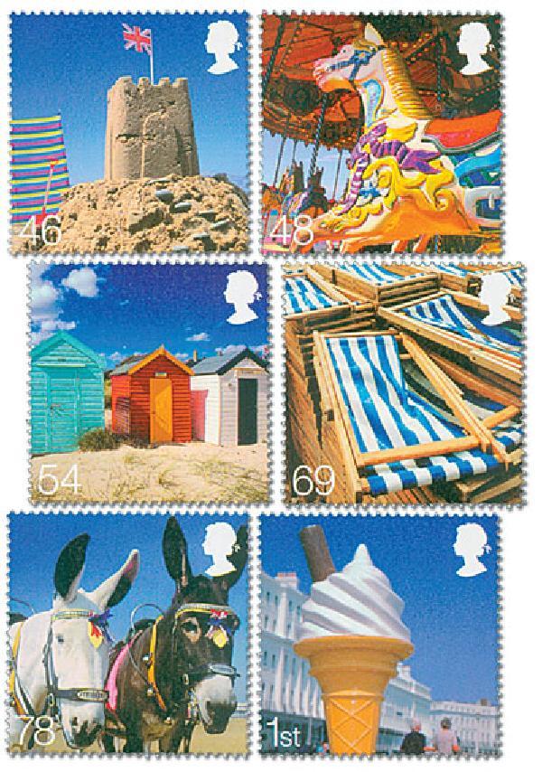 2007 Great Britain Seaside  6v M