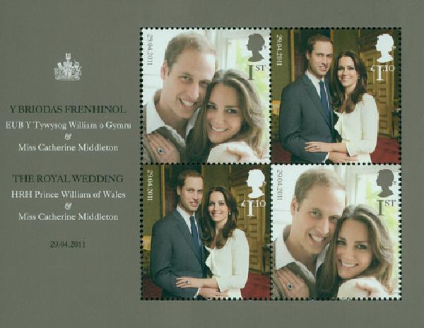 2011 Great Britain Royal Wedding 4v Mint