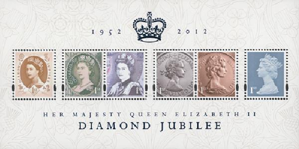 2012 Great Britain Queen Elizabeth II 6v