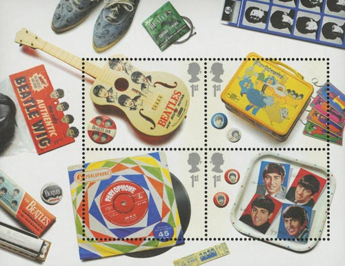 2007 Beatles Memorabilia Sheet of 4