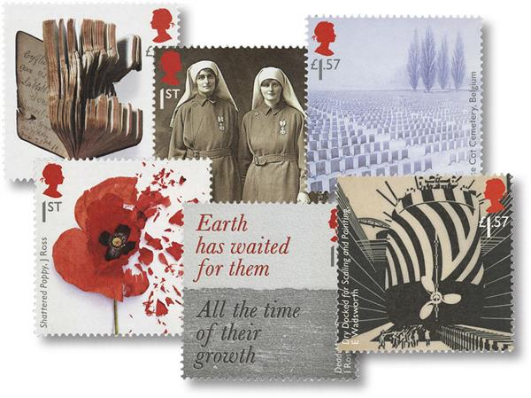 2017 The First World War - 1917 set of 6 stamps