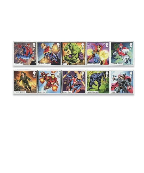 2019 Marvel Comic Characters, set of 10