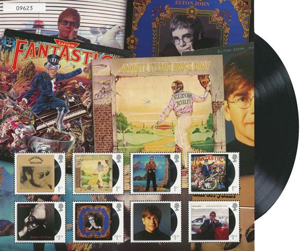2019 Elton John stamp sheet