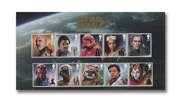 2019 Star Wars Characters, Great Britain , Mint Sheet of 10 Stamps