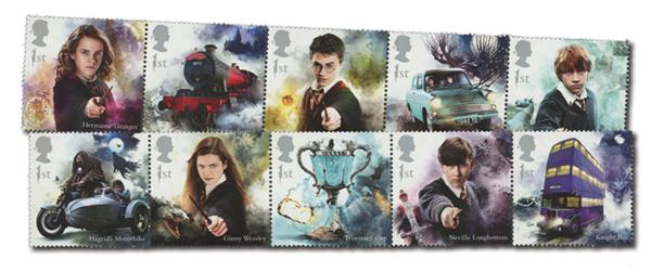 2018 Harry Potter, Mint, Set of 10 Stamps, Great Britain