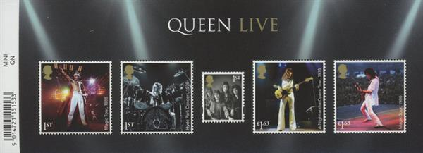 """2020 """"Queen"""" Live, Mint, Sheet of 5 Stamps, Great Britain"""