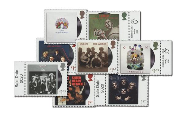 "2020 ""Queen"", Mint, Set of 8 Stamps, Great Britain"
