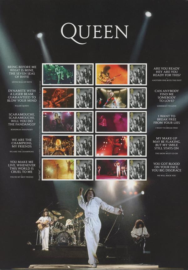 "2020 ""Queen"" Live - Collectors Mint, Sheet of 10, Great Britain"