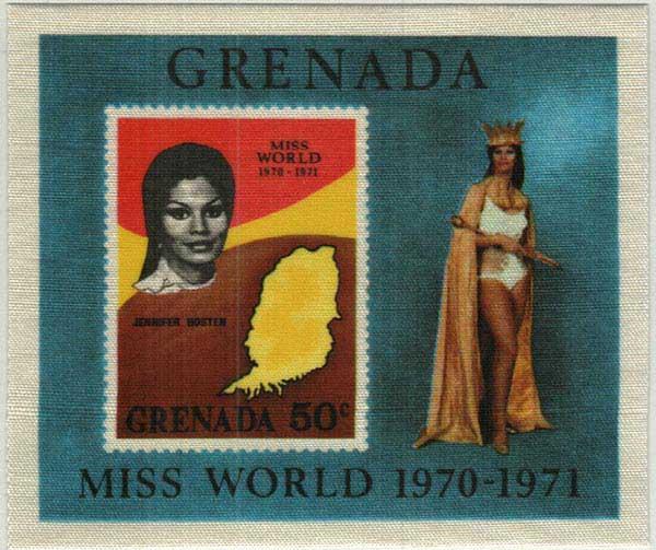 1971 Grenada Souvenir sheet, 1972 overprinted souvenir sheet