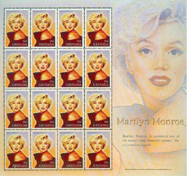 2004 Grenada Marilyn Monroe 16v