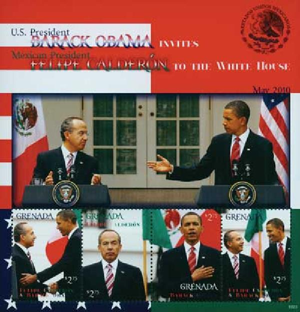 2010 Grenada Barack Obama & Calderon 4v