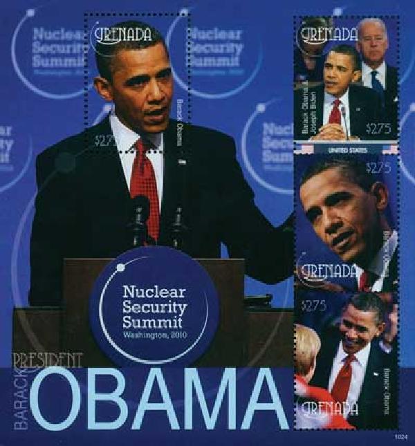 2010 Grenada Barack Obama 4v Mint