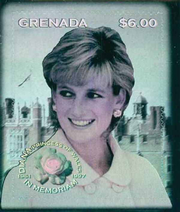 1998 Grenada Princess Diana Holorgram