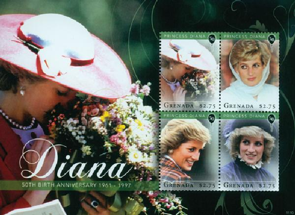 2011 Grenada Princess Diana 50th B-day