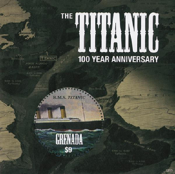 2012 Titanic Centennial Mint s/s