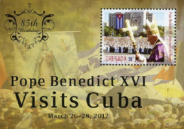 2012 Grenada Pope Benedict 85th bday ss