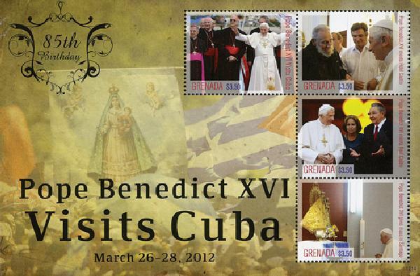 2012 Grenada Pope Benedict 85th bday sh