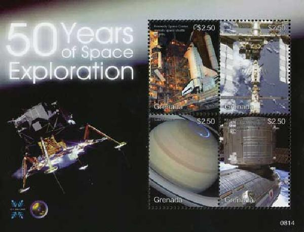 2008 Grenada 50 Yrs of Space Exploration