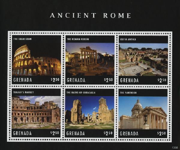 2013 Grenada Ancient Rome Sheet of 6