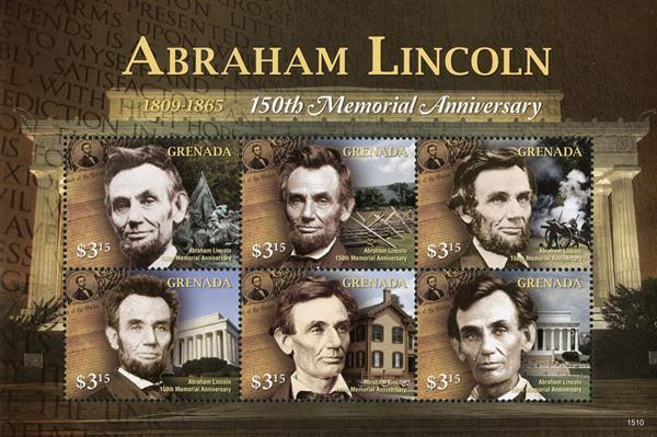 2015 $3.15 Abraham Lincoln - 150th Memorial Anniversary sheet of 6