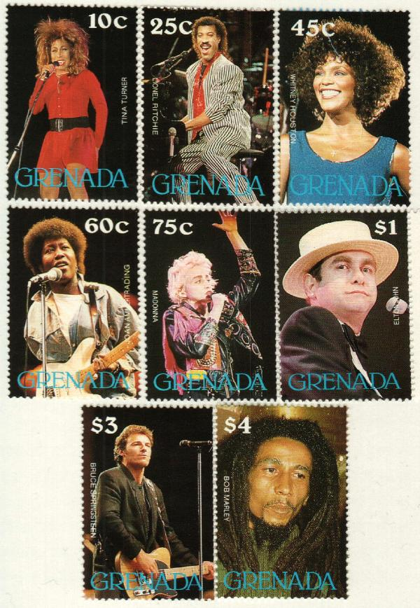 1988 Pop Stars Collection, Mint, Set of 8 Stamps