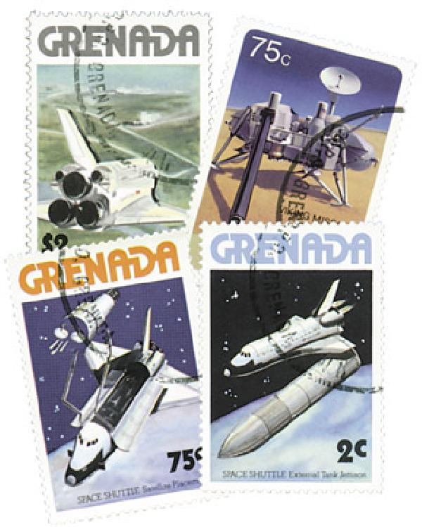 Grenada Helios/Space Shuttle, 13v Used