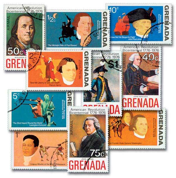 Grenada Bicentennial Stamps, 10v