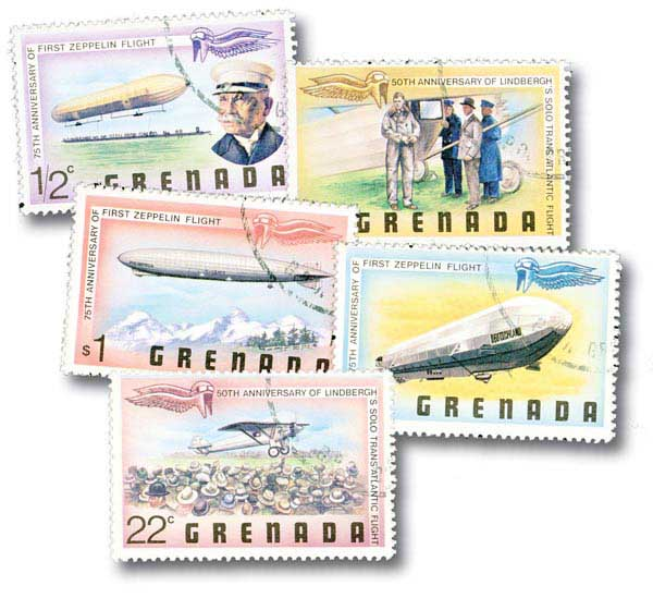 Grenada 1978 Aviation, 7 stamps