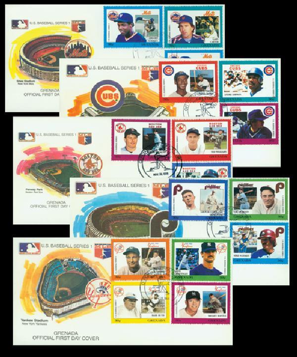 1988 Grenada Giant Offer FDC Baseball