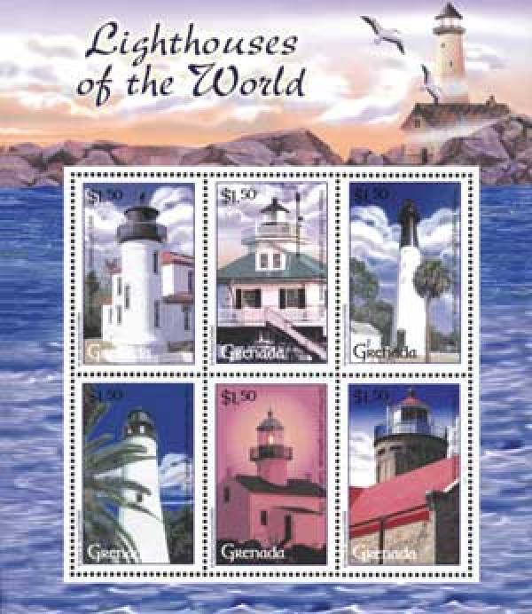 Grenada $1.50 Lighthouses of USA Shlt 6