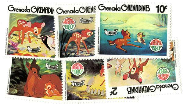 1988 Disney Pals at SYDPEX, Mint, set of 6 Stamps, Grenada